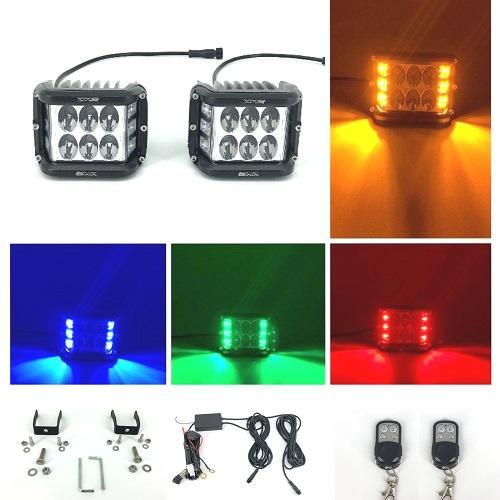 """3.75"""" Dual Side Shooter Dual Color Strobe Cree Pods (buy more only $9.99 / pcs)"""