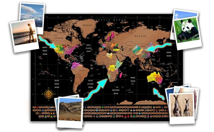🌎Scratch Off Map of The World🌎