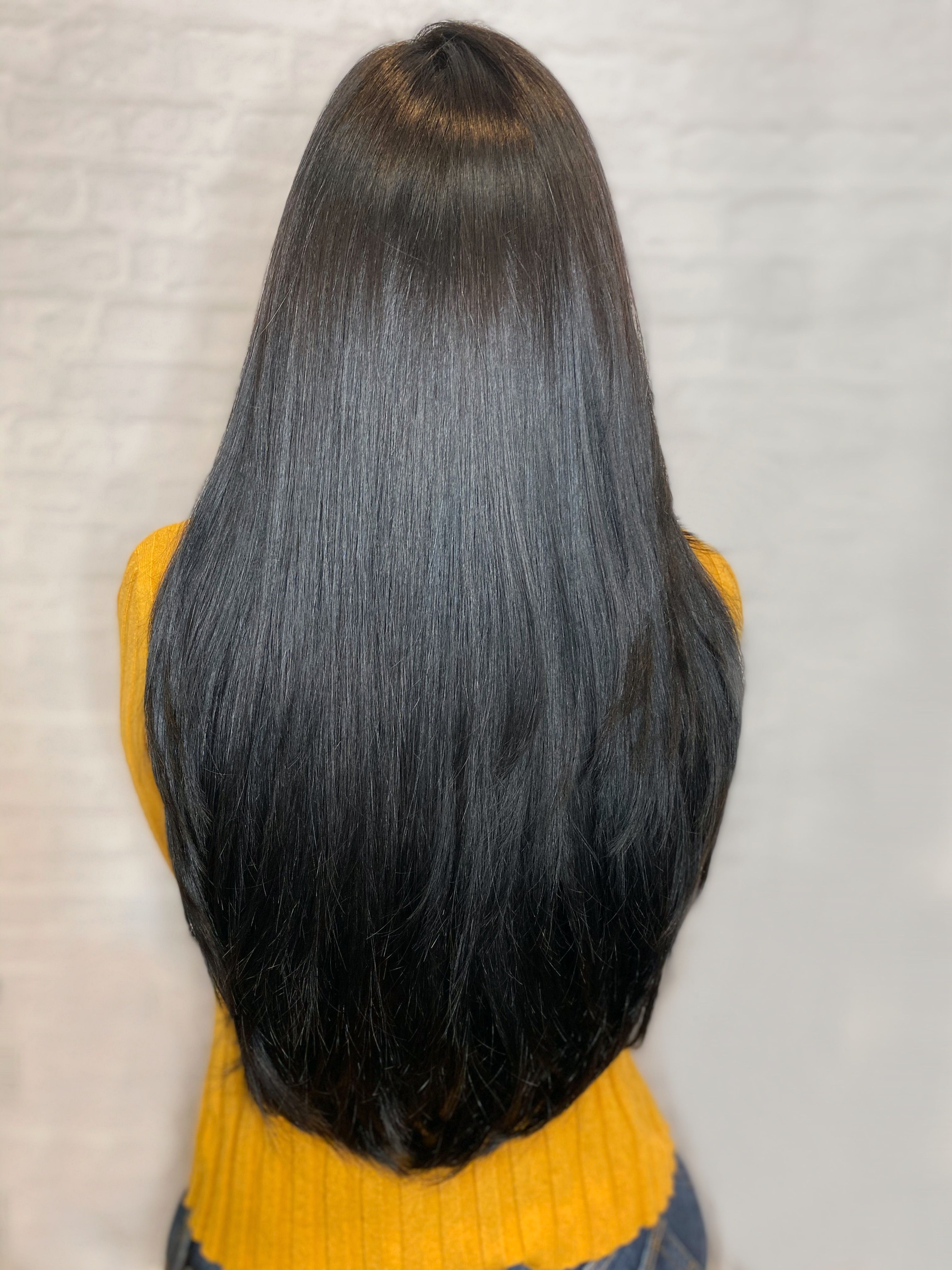 2020 New Straight Wigs Black Long Hair Voluminous Straight Hair Wigs For Black Teenager