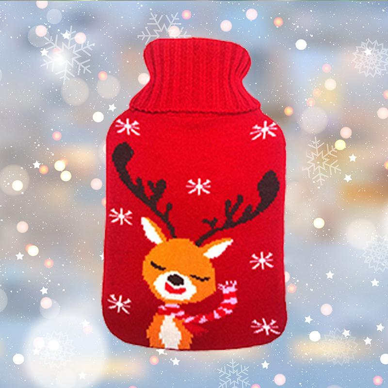 Hot Water Bottle with Christmas Cover
