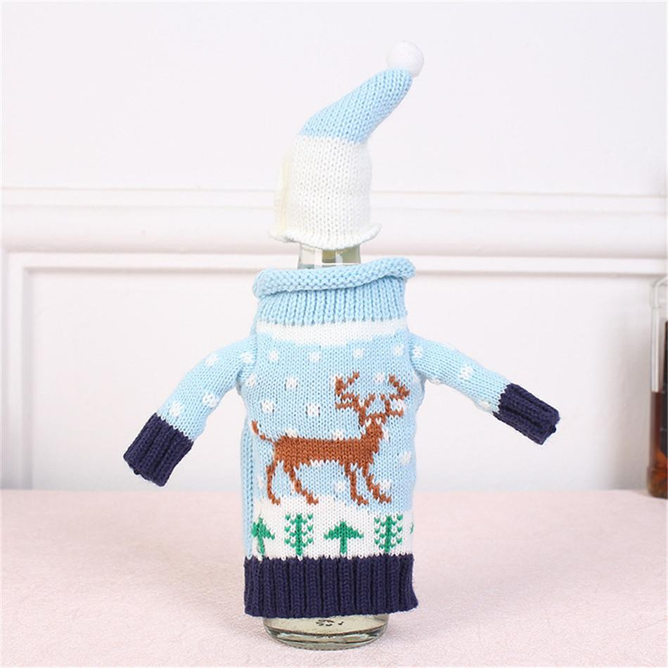 Last Promotion Today - Christmas Wine Knitting Sweater Bottle Cover