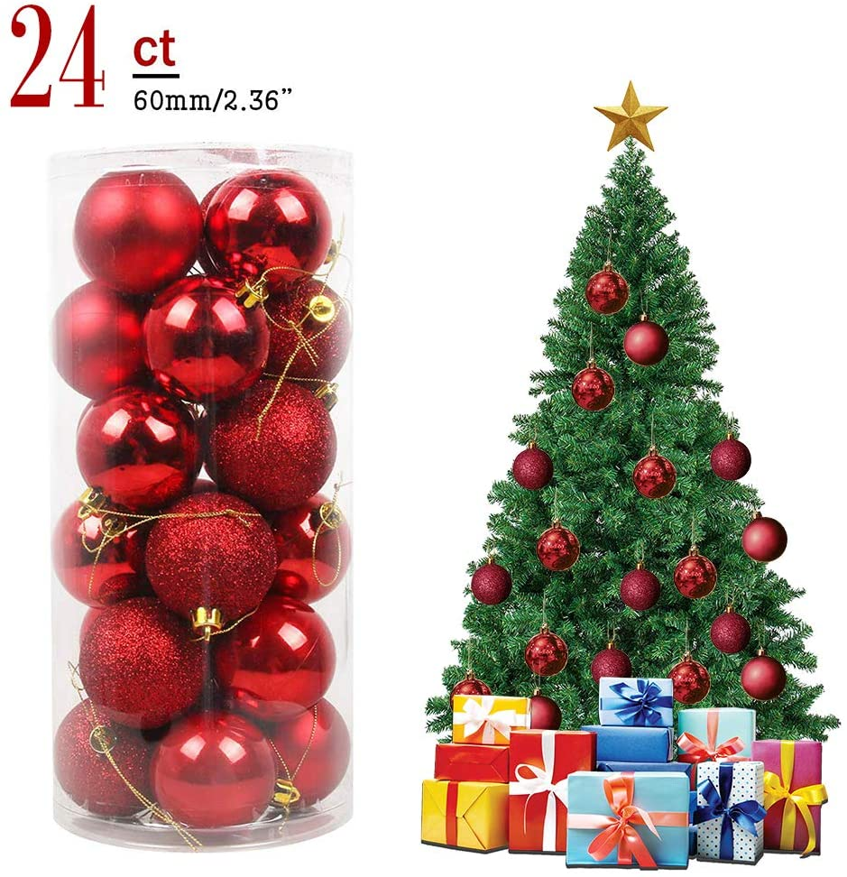 🎄ONLY $6.99 -BUY 2 GET 1 FREE🎄Christmas Ball Ornaments Shatterproof Christmas Decorations Tree Balls