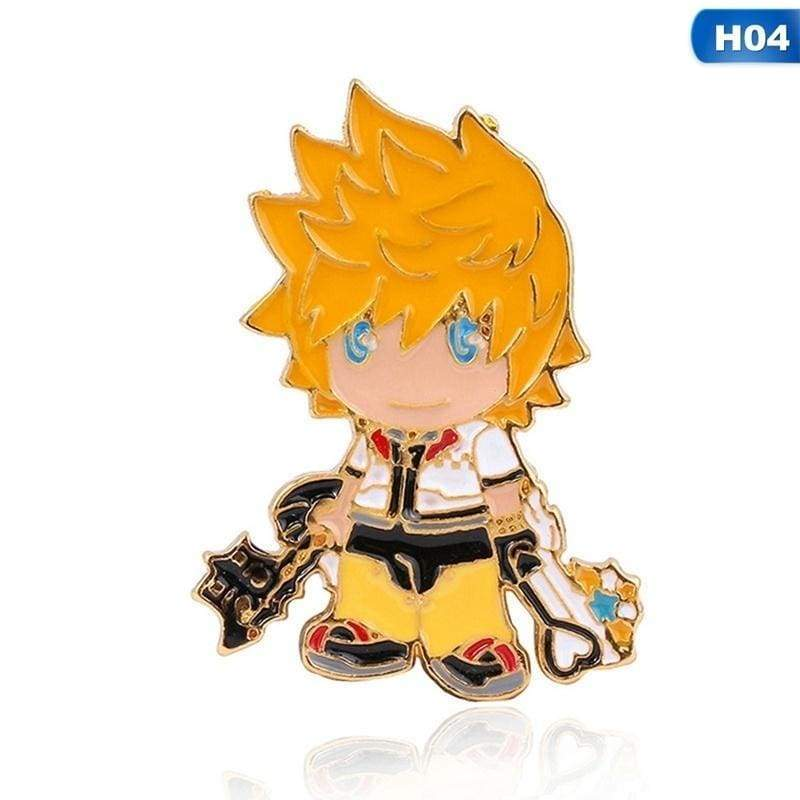 Game Kingdom Hearts Sora Keyblade Badges Paopu Fruit Enamel Pins Brooches For Clothes Bags Lapel Pins Jeans Shirt Jewelry Gifts
