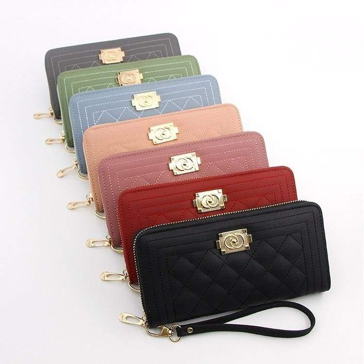Fashion Women Wallets Long Zipper Coin Purse Woman Wallet PU Leather Card Holder Colorful Clutch Bag