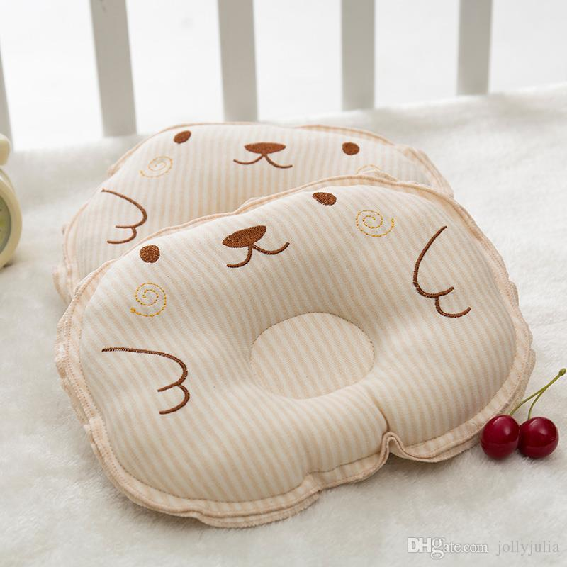 Infant Bear Pattern Pillow Newborn Baby Support Cushion Pad Prevent Flat Head Shaping Pillow Nursery Correct sleeping posture