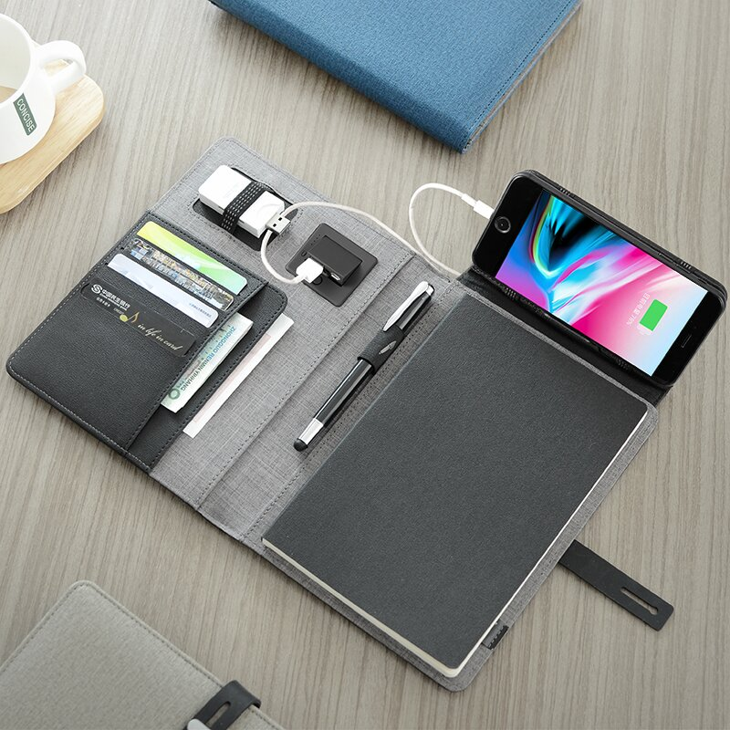 Multifunctional Leather Folder -With Charging