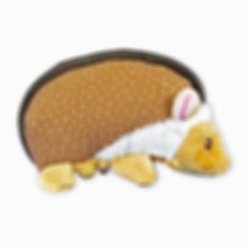 FGA Marketplace Squeaky Dog Toy Brown Hedgehog – Interactive Plush Toy for Dogs - Tough & Durable