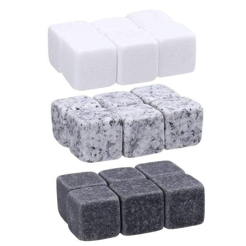 Whisky stone 6pcs ice cube natural beer cooler