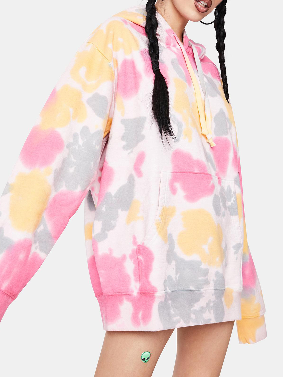 Women'S Simple Fashion Tie-Dye Short Hoodie