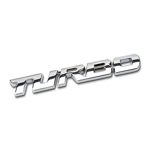 TURBO Metal Car Sticker Badge Adhesive Auto Decal Tailgate Emblem Silver/Black/Red Available.