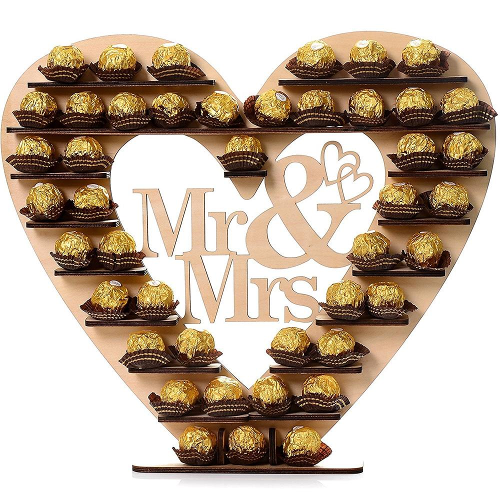 Wedding Decor Wooden Chocolate Display Stand