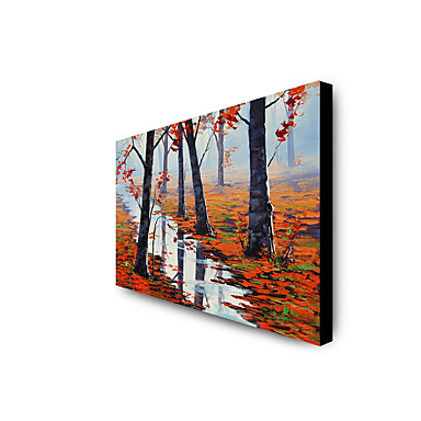 Oil Painting Hand Painted - Landscape Modern Rolled Canvas