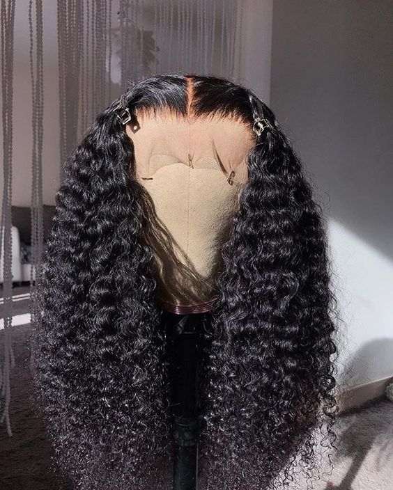 Black Wigs For Black Women Hollywood Waves Hair Black Wig Shops Near Me Synthetic Wigs African American Afro Caribbean Wigs