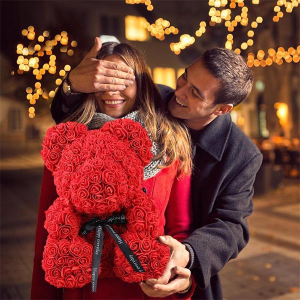 🌹🌹(Holiday Promotion) THE LUXURY ROSE TEDDY BEAR