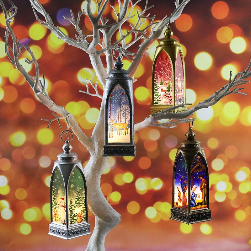 Creative painted  Christmas Decoration lantern