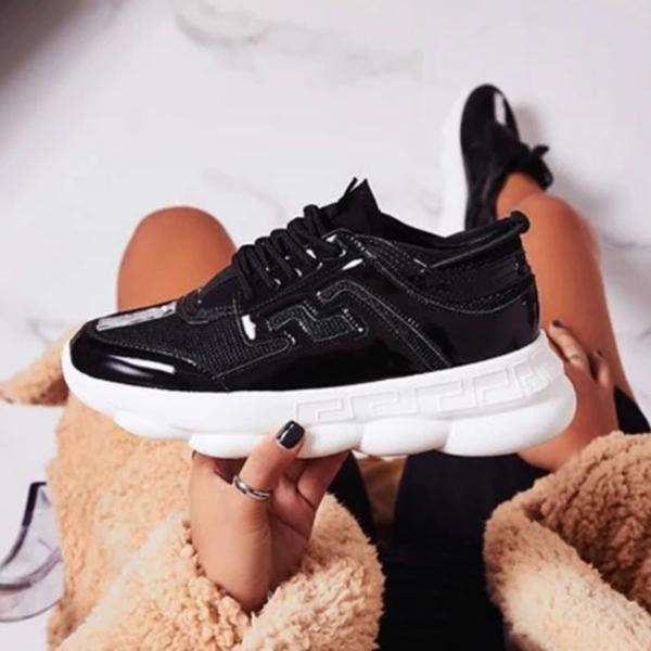 Lemmikshoes Mixed Style Lace Up Sneakers