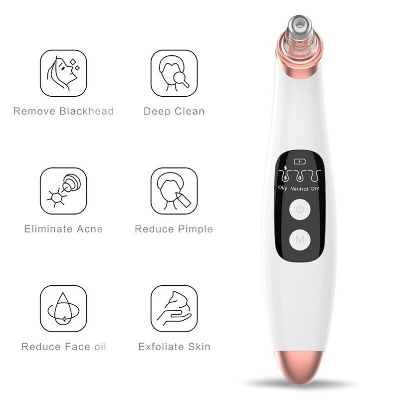 Electric Blackhead Remover Vacuum Suction Acne Pore Cleaner Skin Care Diamond Dermabrasion Facial Cleanser