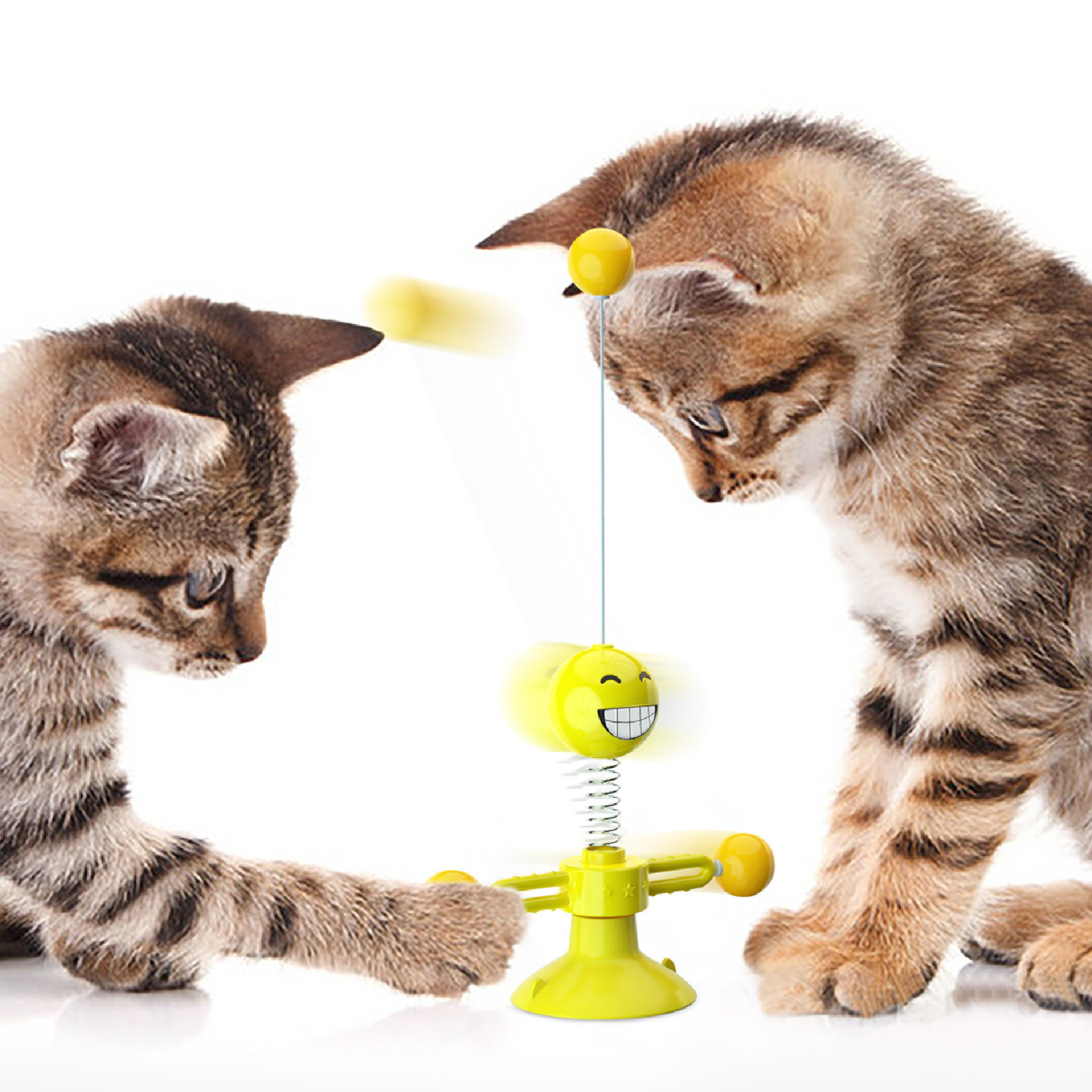 Pet Supplies Hot Sale Spring People Turn Cat Toy Turntable Funny Cat Stick Pet Toy