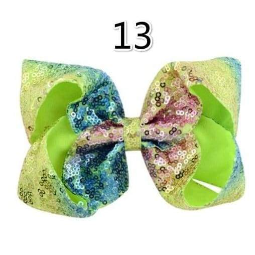 8 Inch 15 Colors Boutique Girls Hair Bows Rhinestones Hair Bows Cheering Squad for Dancing Girl
