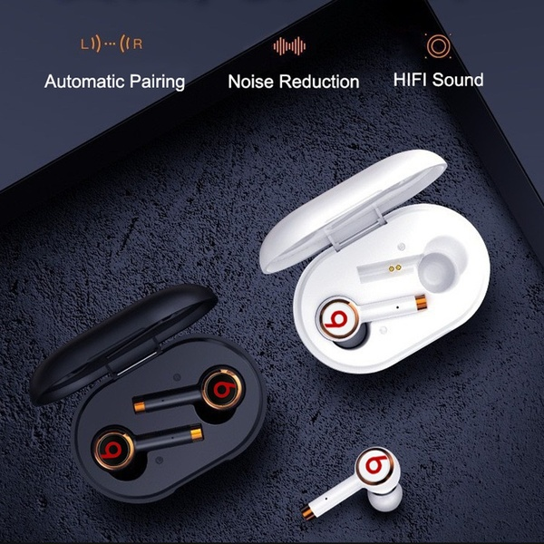 2020 Newest 8D Surround Sound TWS Earphones Wireless Bluetooth 5.0 Stereo Earbuds Sport Waterproof Headphones Touch Control Dual Headsets Mini Earbuds With with Power Bank Chaging Case