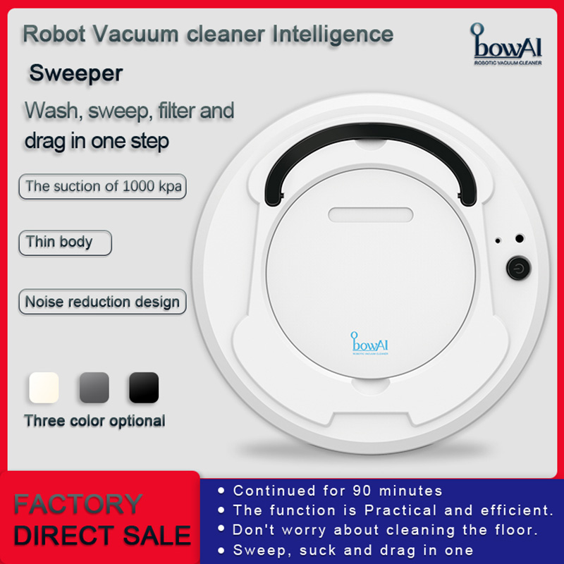 Last Day Promotion 50% OFF - Multifunctional Smart Auto Robot Vacuum Cleaner (3-In-1)