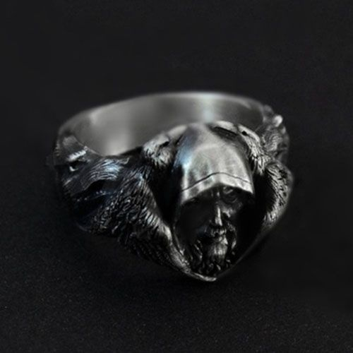 Nordic mythologyOdin Raven  Vintage 925 Sterling Silver Ring Men's Viking Wolf Stainless Steel Punk Ring Scandinavian Amulet Gothic Jewelry