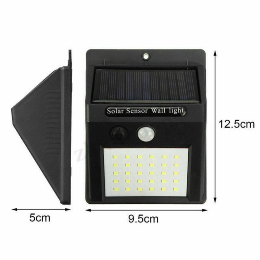 30LED Solar Power Light PIR Motion Sensor Security Outdoor Garden Wall Lamp
