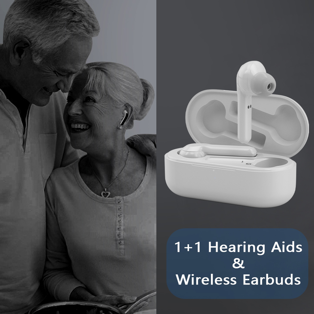2 in 1 Hearing Assist Wireless Bluetooth Earbuds