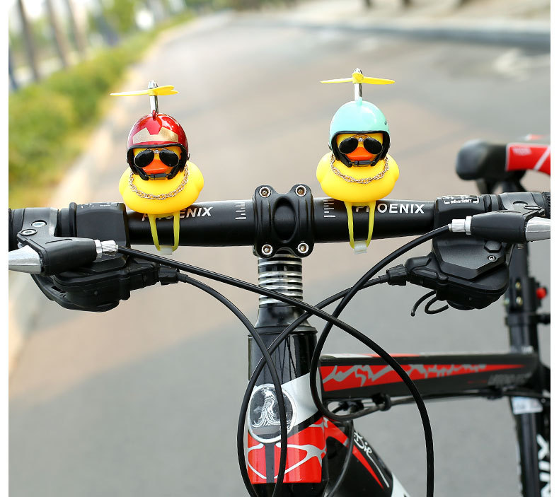 Bamboo dragonfly helmet little yellow duck ornament>>Buy four and get a 50% discount for only $19.8!
