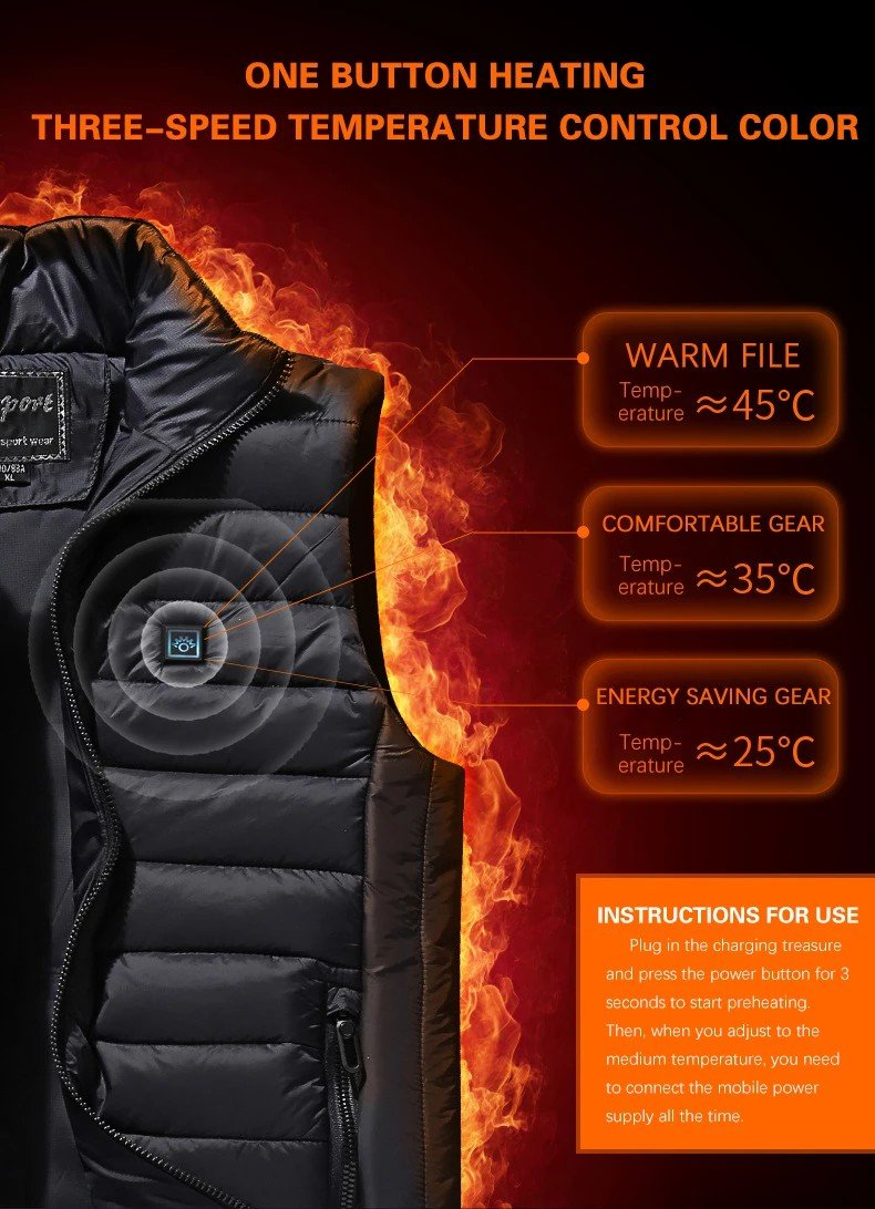 50% OFF Holiday Promotion-Automatic heating vest Unisex (FREE SHIPPING)