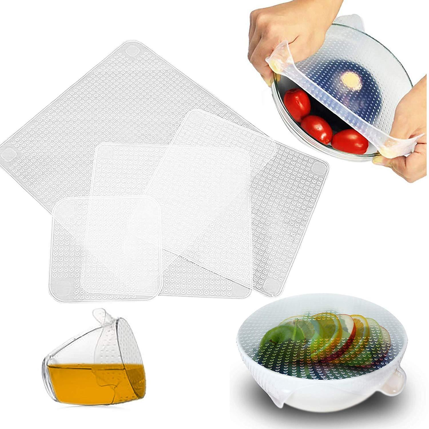 Buy 3 Get 1 Free- Reusable Silicone Food Wrap (Set of 4)