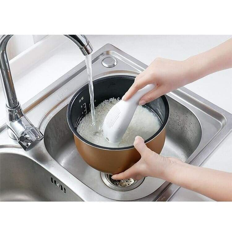 Multi-function rice washer Kitchen rice spoon laundering rice small tool drainer Not hurting hand household rice washer