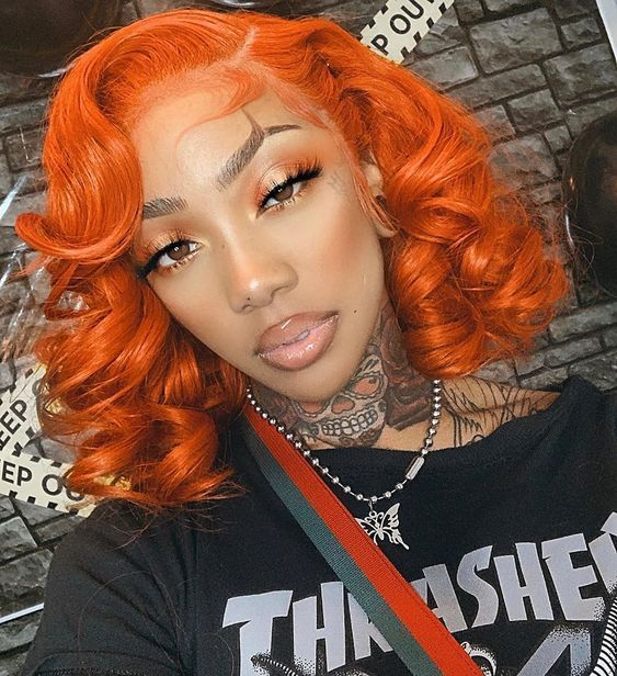 Lace Frontal Wigs Red Hair Natural Red Hair Ombre Purple Raven Wig Asymmetrical Pixie Cut Cute Braided Hairstyles Free Shipping