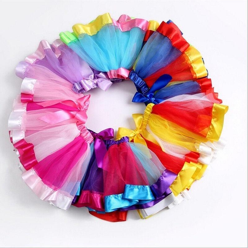 Mother and Daughter Clothes Women Girls Rainbow Party Costume Ballet Tutu Skirt