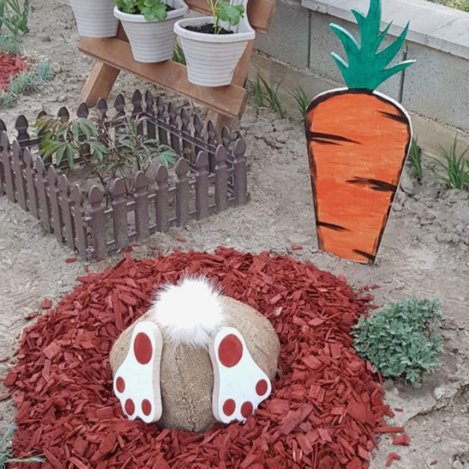 Outdoor garden easter Decorations And Easter Gifts   bunny carrot 【Bunny butt+Carrot】