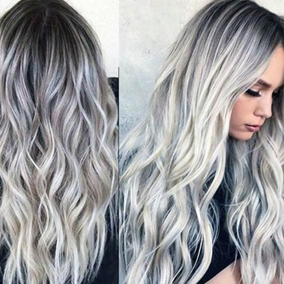 2020 New Gray Hair Wigs For African American Women Brown Wig With Bangs Grey Hair Mens Styles Grey Wigs For Seniors Mens Dyed Grey Hair Dark Ash Gray Hair Color