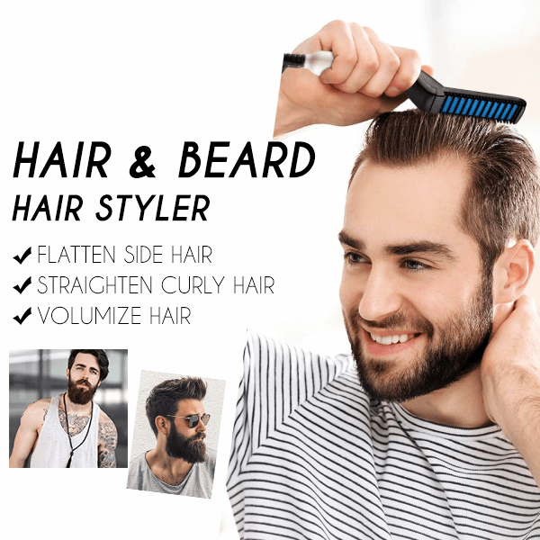 🎁Best Father's Day Gift!——2-in-1 Hair & Beard Straightening Comb(On Time Delivery)