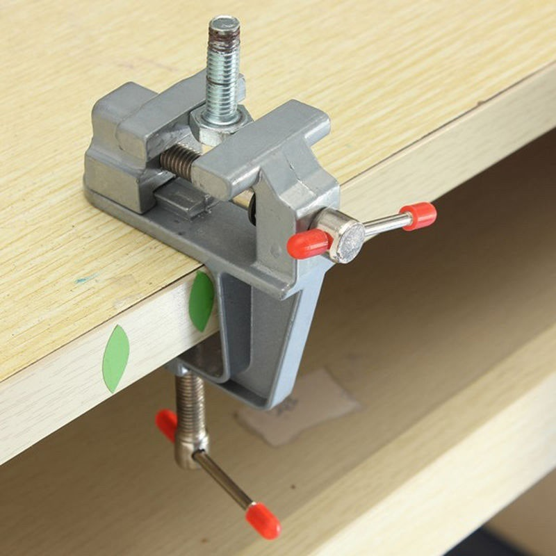 3.5' Aluminum Small Jewelers Hobby Clamp On Table Bench Vise Mini Tool Vice