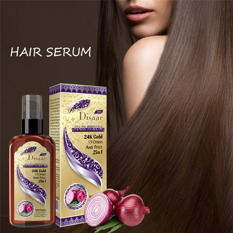 120ml 2 in 1 24k Gold and Onion Hair Serum for Natural Hair Care & Growth