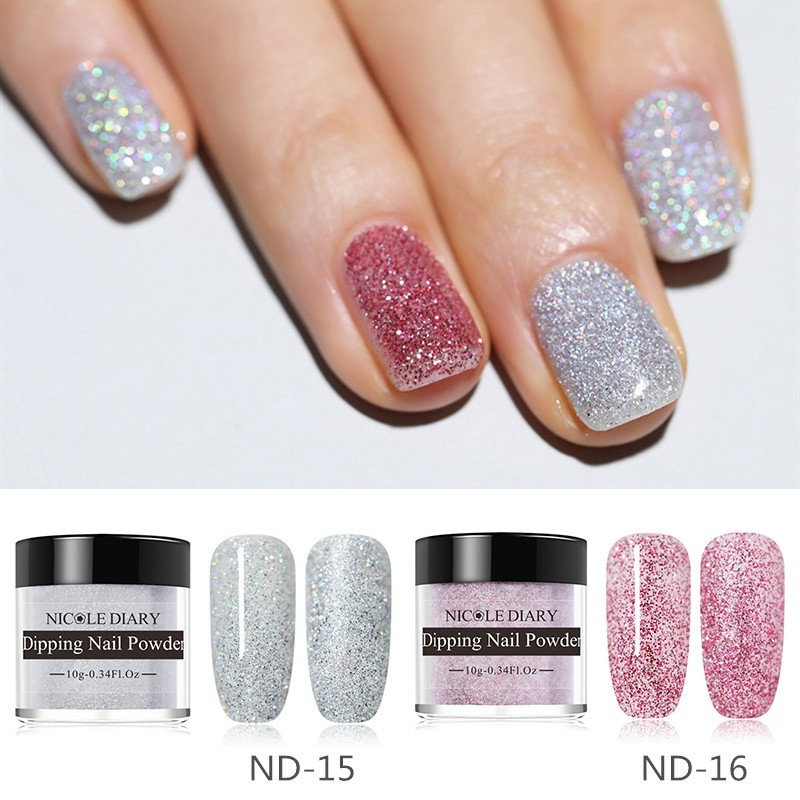 123 Colors NICOLE DIARY graphic   Dipping Nail Powder DIY Nutural Dry Dipping System