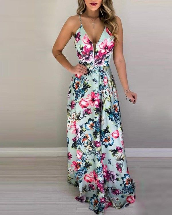 Floral Dresses 2020 Print Dresses African Print Evening Dresses Yellow Dress With Purple Flowers Navy Blue Floral Floral Print Dresses