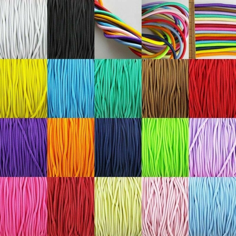 25/50M Rubber Cord Elastic Stretchy Many Colours Diameter 1MM Elastic Expander Rope Elastic