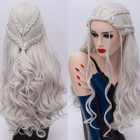 Gray Wigs Lace Frontal Wigs Good Hair Color For Grey HairMedium Length Grey Wigs