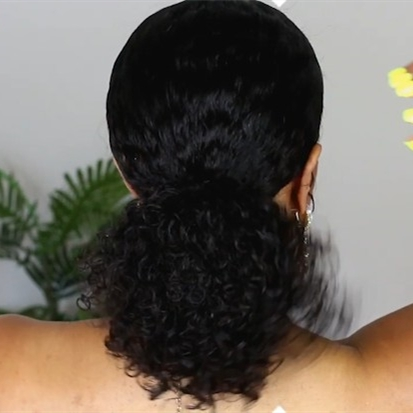 New most natural curly beginner wig