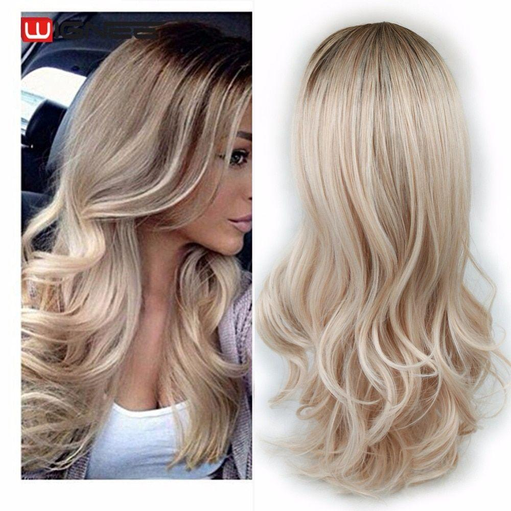 2020 Fashion Ombre Blonde Wigs Best Lace Front Tape