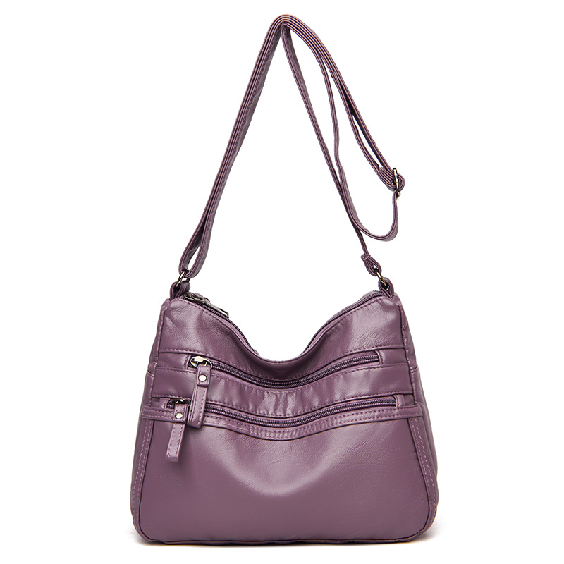 2020 classic solid color texture soft leather handbags