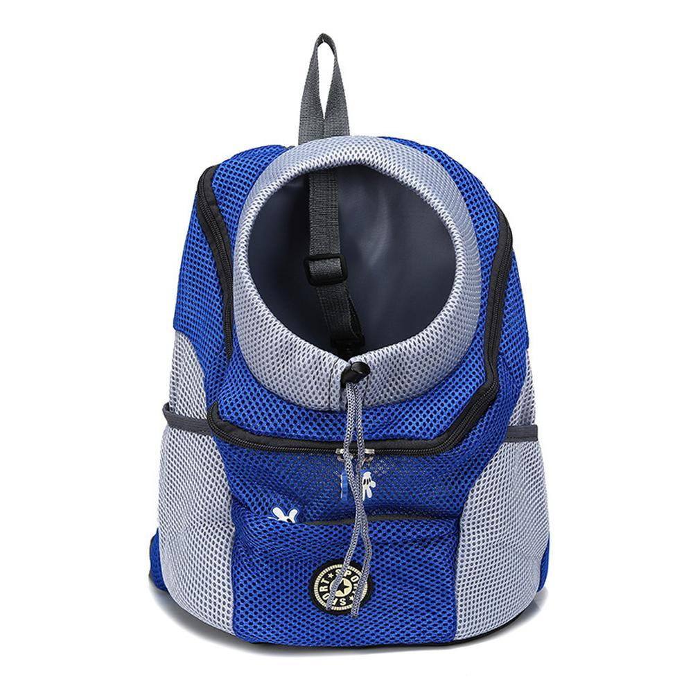 Comfortable Dog Cat Carrier Puppy Pet Front Pack Breathable Head Out Design and Padded Shoulder Hiking Outdoor Travel Backpack