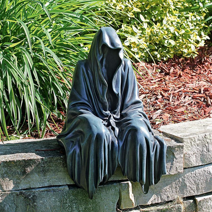 REAPING SOLACE: THE CREEPER REAPER SITTING STATUE