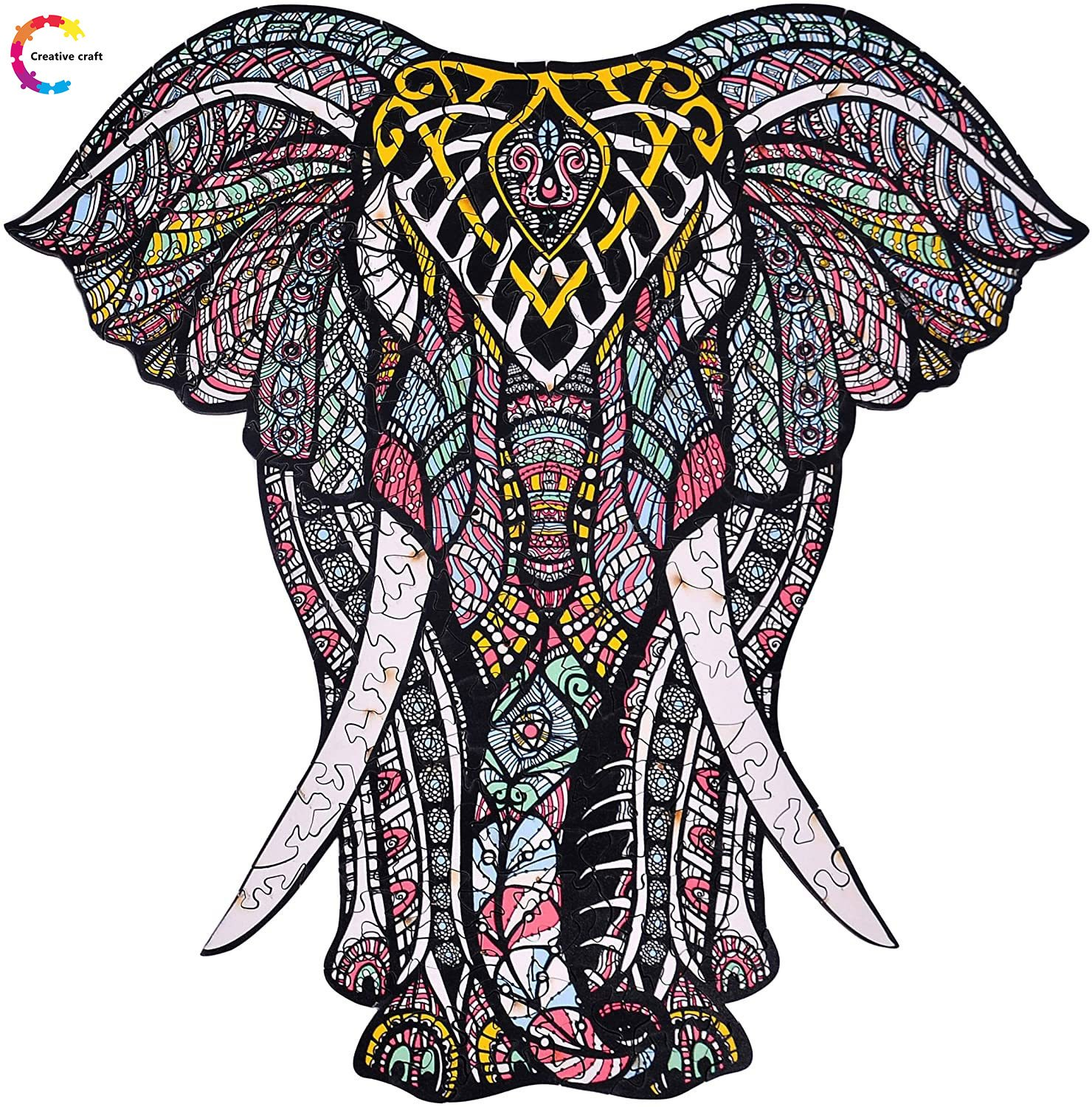 Wooden Jigsaw Puzzle Elephant-50% OFF