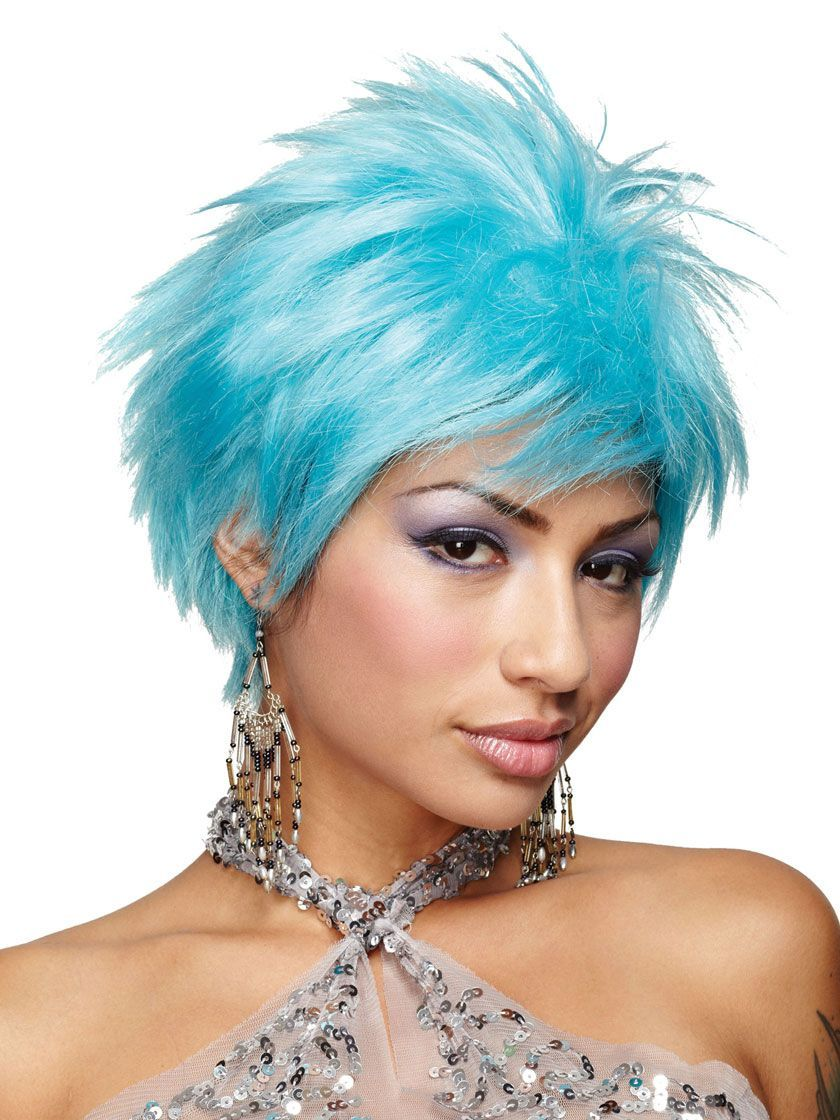 Blue Wigs Lace Frontal Wigs Cheap Human Wigs Sky Blue Hair Sky Wig 010 Best Hair Color For Pale Skin And Blue Eyes